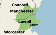 Our Massachusetts and New Hampshire Service Area
